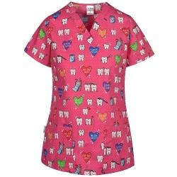 Bluza medicala dama imprimeu stoma Bambina