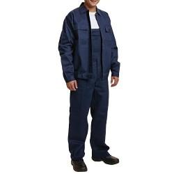 Costum salopeta cu pieptar bumbac bleumarin