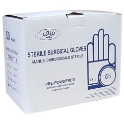 Manusi sterile pudrate