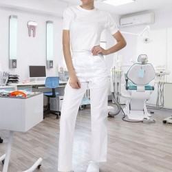 Pantaloni medicali albi