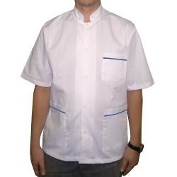 Halat medical barbat capse alb-bleu Carlos