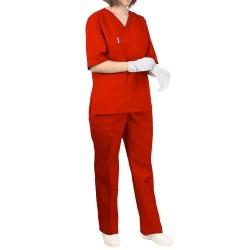 Costum medic dama rosu