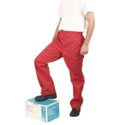 Pantaloni salopeta de lucru rosii
